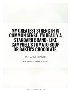 MY GREATEST STRENGTH IS 