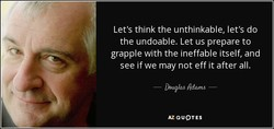 Let's think the unthinkable, let's do 