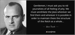 Gentlemen, I must ask you to rid 