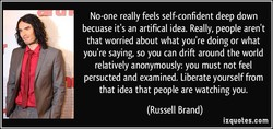 No-one really feels self-confident deep down 