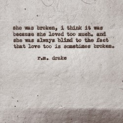 she broken, 1 think vag 