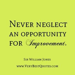 NEVER NEGLECT 