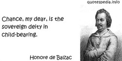 Chance, my dear, is the 