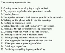 The amazing moments in life: 