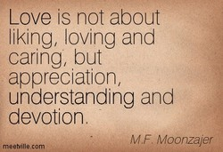 Love is not about 