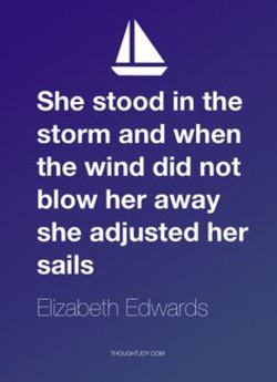 She stood in the 