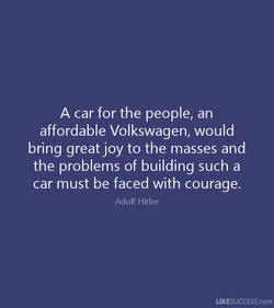 A car for the people, an 