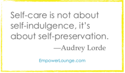 Self-care is not about 
