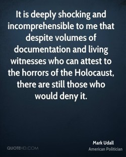 It is deeply shocking and 