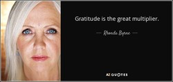 Gratitude is the great multiplier. 