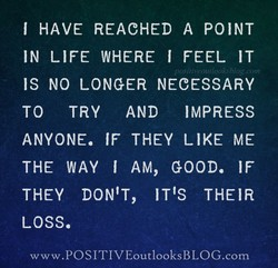 I HAVE REACHED A POINT 