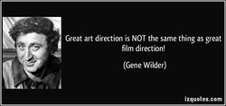 Great art direction is NOT the same thing as great 