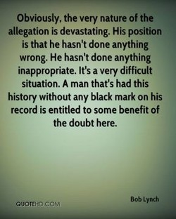 Obviously, the very nature of the 