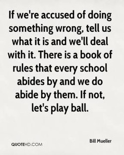 If we're accused of doing 