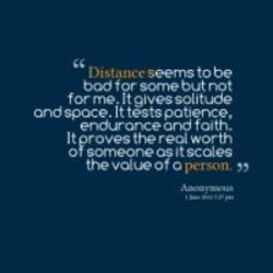 Distance seems to be 
