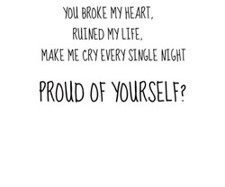 YOU BROKE HEART, 