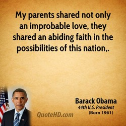 My parents shared not only 
