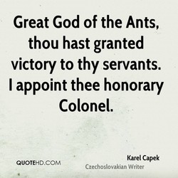 Great God of the Ants, 