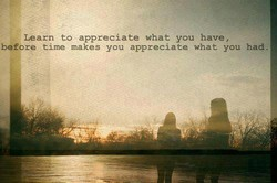 Learn to appreciate what you have , 