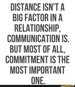 DISTANCE ISN'T A 