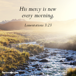 His mercy is new 
