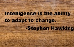 'Intelligenceistheability change. - •Stephen Hawking