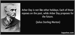 Arbor Day is not like other holidays. Each of those 