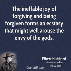 The ineffable joy of 