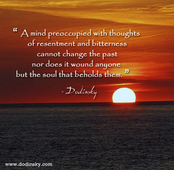 A mind preoccupied with thoughts 