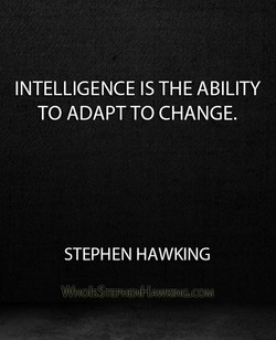 INTELLIGENCE IS THE ABILITY 
