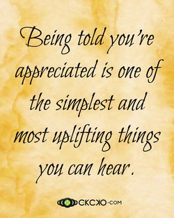 (Being told you're 