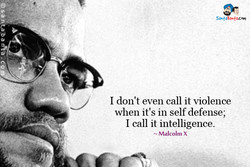 I don't even call it violence 