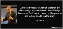 American troops and American taxpayers are 