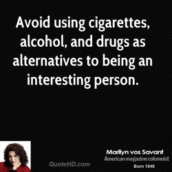 Avoid using cigarettes, 