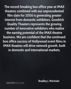 The record-breaking box office year at IMAX 