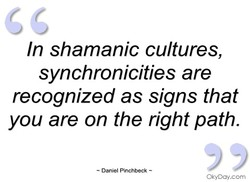 In shamanic cultures, 