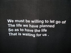 We must be willing to let go of 