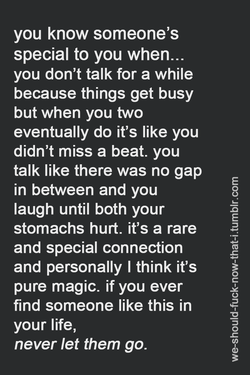 you know someone's 