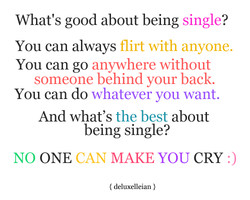 What's good about being single? 