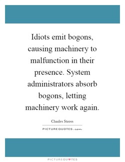 Idiots emit bogons, 