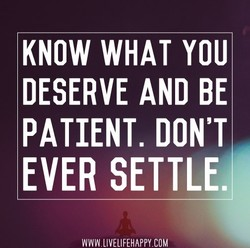 KNOW WHAT YOU 