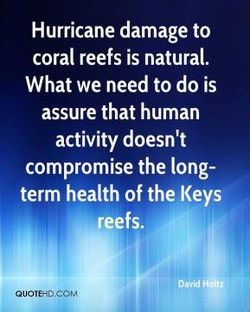 Hurricane damage to 