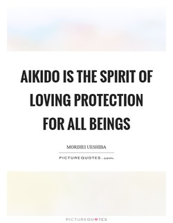 AIKIDO IS THE SPIRIT OF 