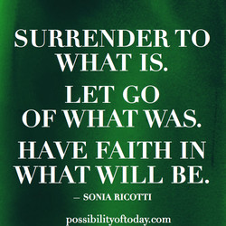 SURRENDER TO 