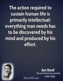 The action required to 