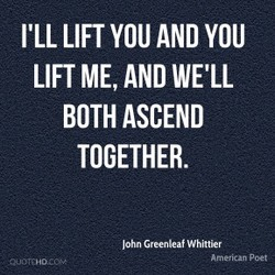 I'LL LIFT YOU AND YOU 