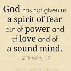 God has not given us 