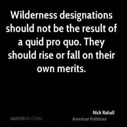 Wilderness designations 