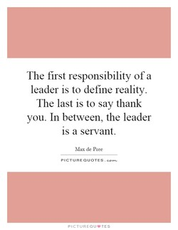 The first responsibility of a 