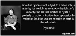 Individual rights are not subject to a public vote; a 
